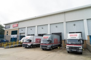 Central Warehouse lorries loading